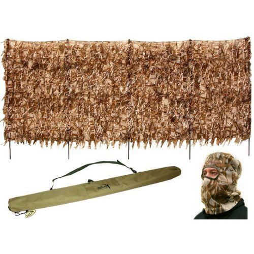 Скрадок-засидка переносной DUCK EXPERT ХИЩНИК камыш + маска для лица