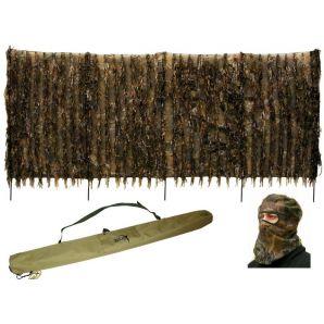 Скрадок-засидка переносной DUCK EXPERT ХИЩНИК болото + маска для лица