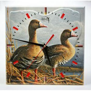 Часы настенные сувенирные БЕЛОЛОБЫЙ ГУСЬ ПАРА