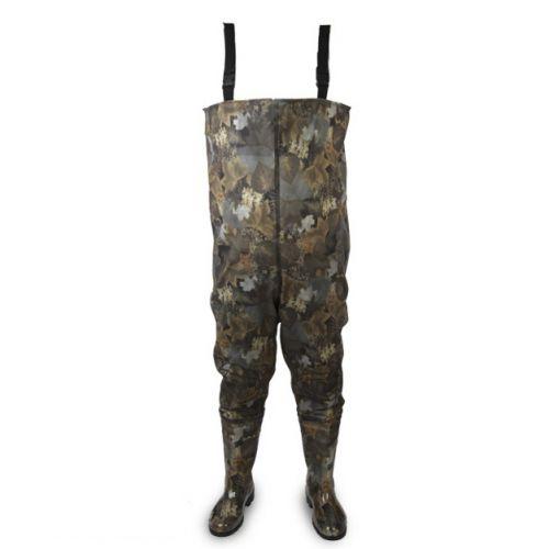 Полукомбинезон охотничий ПВХ с сапогами камуфляж
